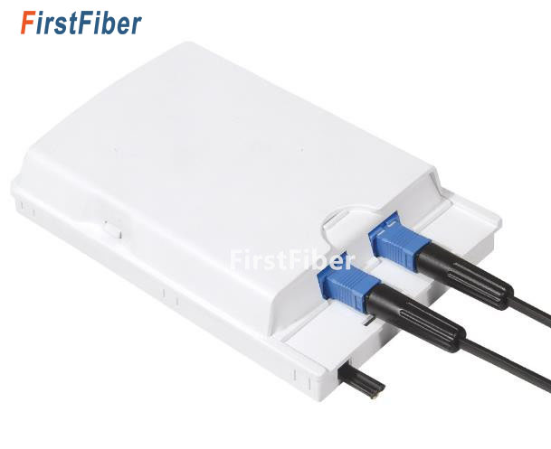FirstFiber ODN FTTH 2 cores fiber Termination Box 2 ports 2 channels fiber socket Splitter Box indoor outdoor fiber Optical-in Fiber Optic Equipments from Cellphones & Telecommunications