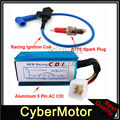 Blue Racing Ignition Coil +  5 Pin AC CDI + A7TC Spark Plug For 50cc 70cc 90cc 110cc 125cc 140cc 150cc Pit Dirt Bike Motorcycle