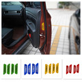 Reflective Door Open Nighttime Warning Sign Car Sticker Decal Car Styling Reminder Sticker For Automotive Side Door 4pcs