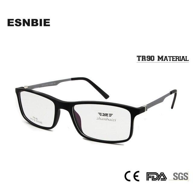 ESNBIE Rectangular Eyeglasses Frame Men TR90 Google Eyewear Frames ...