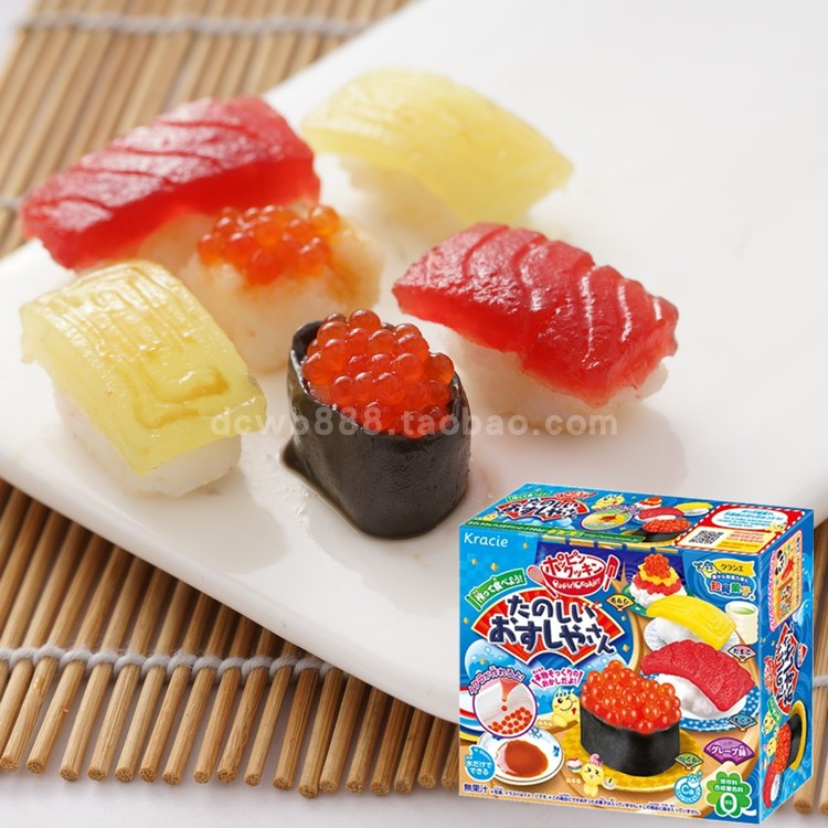 DIY Mini Sushi Japanese Food Toy Pretend Play Kitchen Toy, Cook Toy Children DIY Handmade Fun Toys Miniature Dollhouse Food