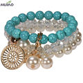 Fine Jewelry Round For Women Special Offer Real Bracelet Loom Band Unique 2015 Most Popular Design Imitation Turquoise Fashion