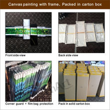 4 Panel Hand Painted Impressionist Flower Oil Painting On Canvas Wall Art