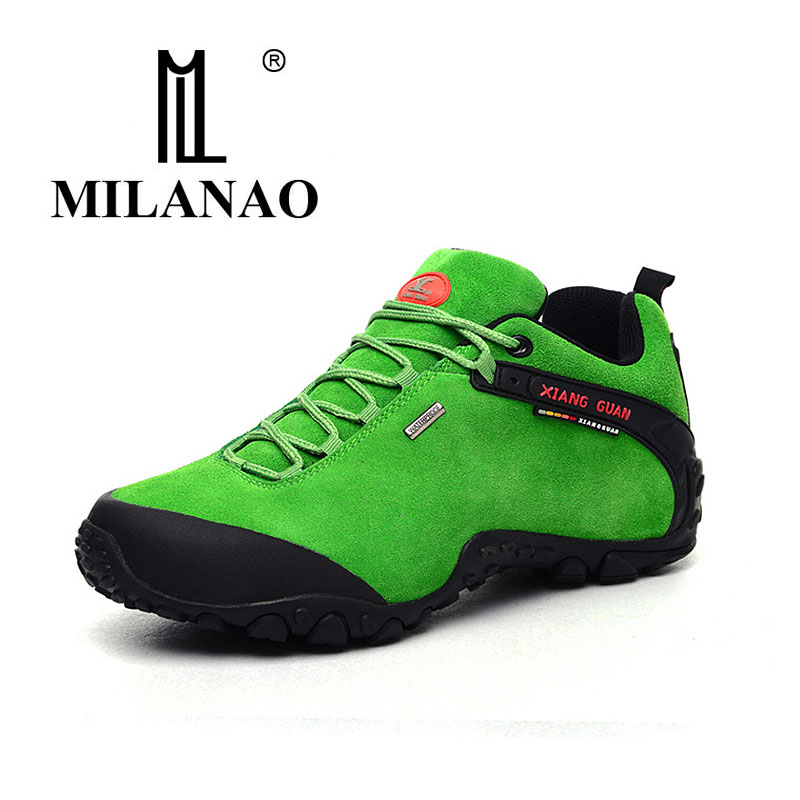 2016 MILANAO man outdoor hiking shoes slip resistant waterproof hiking Sneaker man Anti fur sports sneakers high quality 36-45 yin qi shi man winter outdoor shoes hiking camping trip high top hiking boots cow leather durable female plush warm outdoor boot