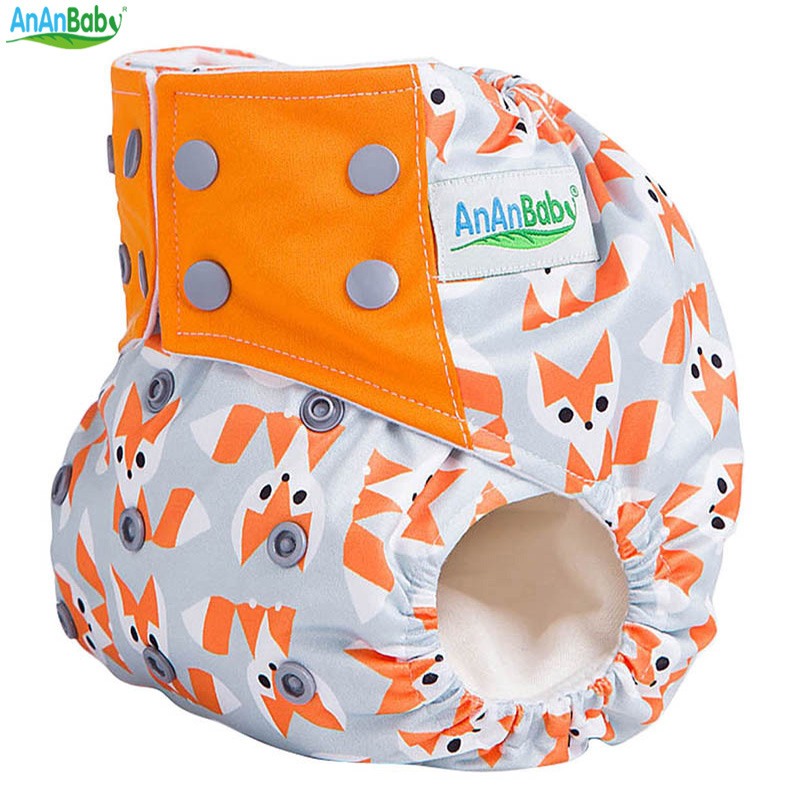 Baby Cloth Diaper Washable Nappy Sewn 3 Layer Microfiber Insert AIO Nappies Suede Cloth Inner Square Tab
