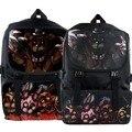 Cinco Noches en Coaplay FNAF Adolescente Schoolbag Mochila de Lona de Freddy Freddy Fazbear Foxy Bonnie Accesorios de Viaje Mochila
