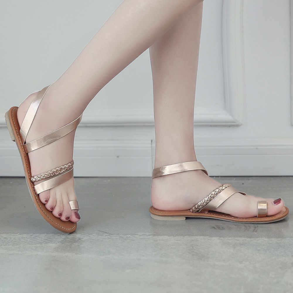 Scarpe da donna sandali degli alti talloni delle donne sandali piatto scarpe casual sandali di estate delle donne 2019 di estate scarpe vera e propria piattaforma