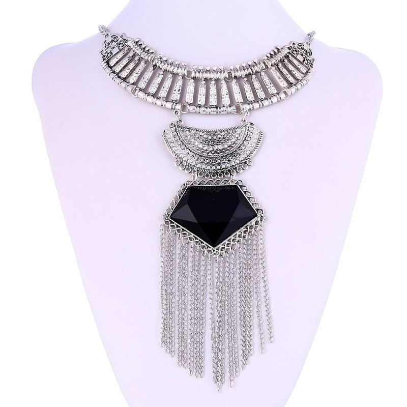 LOVBEAFAS Mode Multi Layer Maxi Halsband Fin smycken Uttalande - Märkessmycken - Foto 2