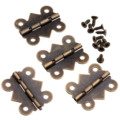 4Pcs Antique Bronze Kitchen Cabinet Hinge Furniture Accessories Vintage Jewelry Wooden Box Hinges Fittings for Furniture 25x20mm