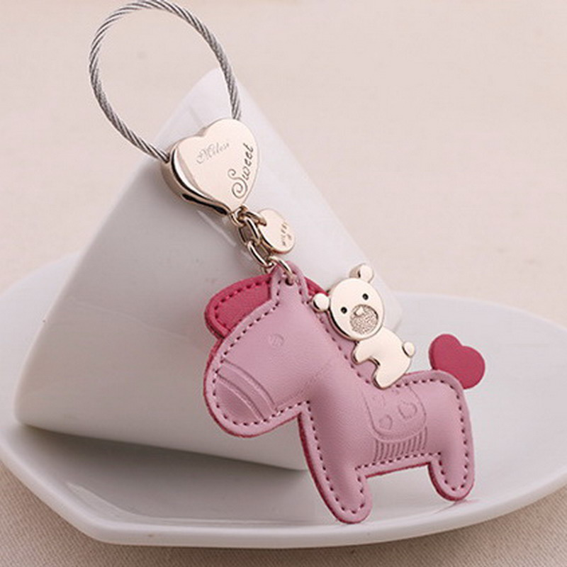 Milesi - New 2017 Brand Horse Key chain Keychain Key Holder Rings for Women Men Novelty Gift innovative Bag Pendant Trinket