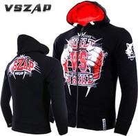 VSZAP Fight fist, long sleeve vest MMA hooded shirt, martial arts UFC bodybuilding.
