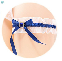 Blue Sexy European and American Bride Garments Legs Socks,Maiden wind Socks, Wedding Garment Accessories, Czy Party czy black sexy bride lace socks of wedding garter thigh ring czy party embroidery flower beading black sexy garters for bride