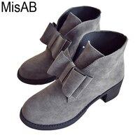 Fashion Women Ankle Boots Winter Autumn Bowtie Women Boots High Heels Platform Gift Women Boots Ladies