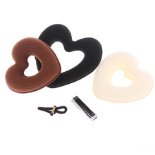1 Set New DIY Donut Bun Heart Foam Sponge Hair Styling Tool