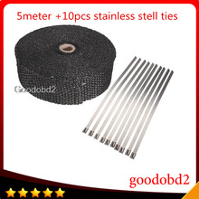 Car Exhaust Pipe Header Heat Wrap Resistant Downpipe 10 Stainless Steel Ties 5mx5cmx2mm Fit For Motorcycles Muscle Cars Go Carts exhaust header for fit chevelle camaro stainless steel shorty headers chevy 396 402 427 454 big block