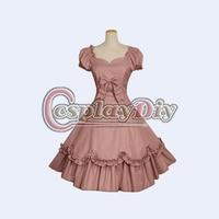 Free Shipping Custom Made Short Puff Sleeve Red Lolita Dress Victorian Lolita Dress Costume