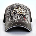 Baseball cap man sketch tiger illustration personality trend cycling cap street fashion tattoo hat