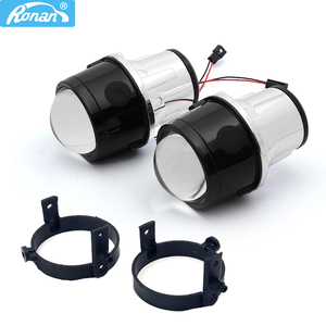 Image 1 - Ronan 2pcs H11 Metal holder use H8 H9 HID Bulbs 2.5Bi Xenon Fog Light Projector Lens Car Styling for CX5 CX7 MX5 DIY retrofit