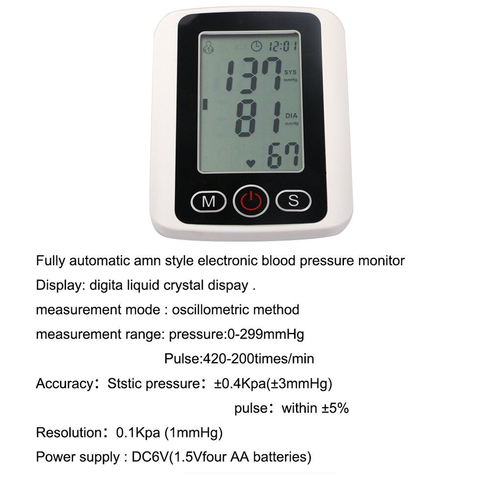 5 ensembles de pression artérielle numérique Moniteur de pression artérielle Fitness Mesure Sphingomanometer Intelligente Machine Médicale de Soins de Santé
