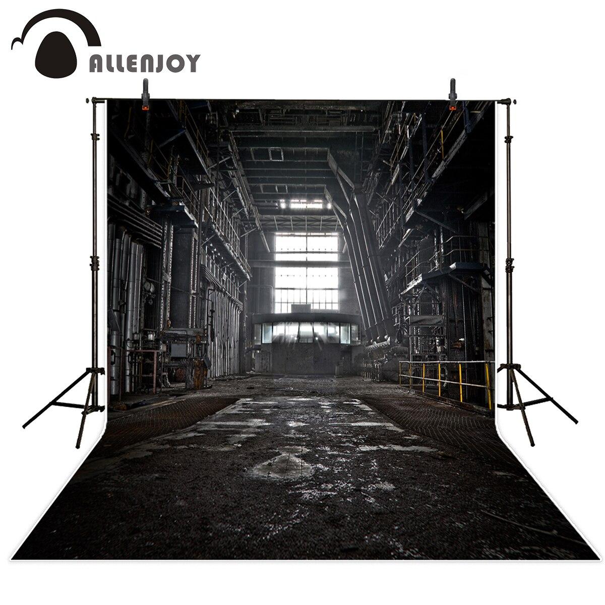Allenjoy Vintage photo studio backgrounds Black Factory Windows mechanical for young sport photographic camera backdrop vinyl harman kardon onyx studio 2 black