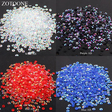 ZOTOONE 2-6mm 1000Pcs Rhinestones Crystal Clear AB Non Hotfix Flatback Nail Rhinestoens For Clothes  Decoration DIY Mobile Phone