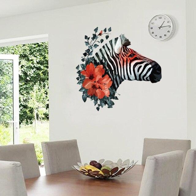 Perfekt Neue Design Kreative Mode Zebra Reben Blumen Dekoration Wandaufkleber  Wohnzimmer Eingang Wandtattoos Schlafzimmer Tapete