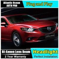 Auto Pro Car Styling For 2014 New Mazda 6 LED Headlight Mazda6 Headlights DRL Lens Double
