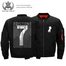 USA Size Cristiano Ronaldo CR7 Juventus Thick Bomber Jacket Men's Streetwear Flight MA-1 Jacket Coat Customized Logo Design(China)