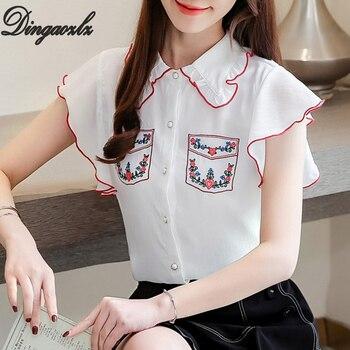 acf8685d3836 Dingaozlz Hollow-out camisa de mujer nueva moda manga de murciélago Casual  Tops color sólido ...