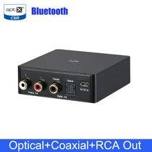 NFC Không Dây Bluetooth 4.2 Âm Thanh Receiver Adapter Di Động Âm Nhạc Stereo Receiver NFC Kích Hoạt Quang Học Đồng Trục RCA Đầu Ra