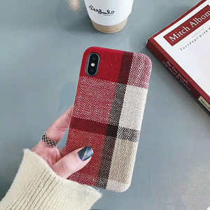 New Plaid For Iphone 6 6s 7 8P X Xs Xr Max Small Fragrance New Plaid Simple Mobile Phone