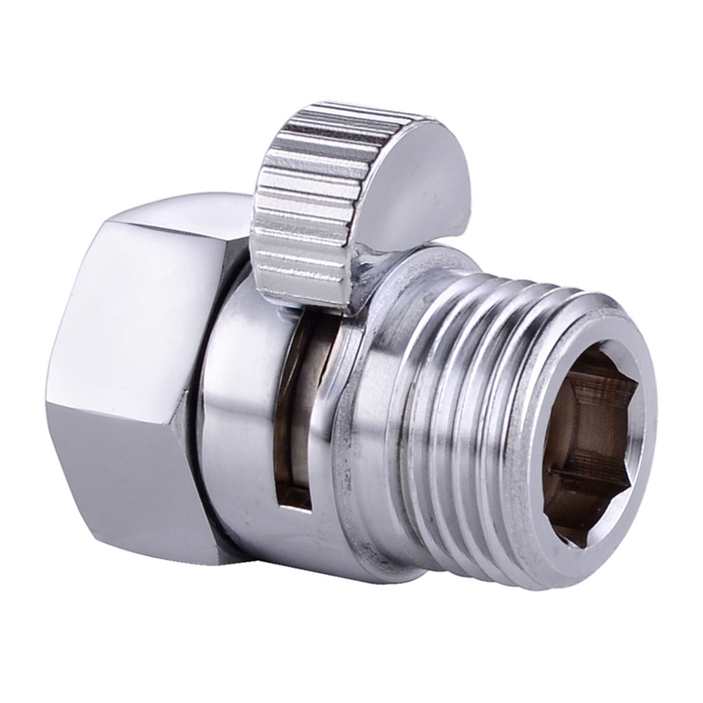 100 brass flow control valve water pressure reducing controller hand held sprayer head shut off stop switch for shower supply