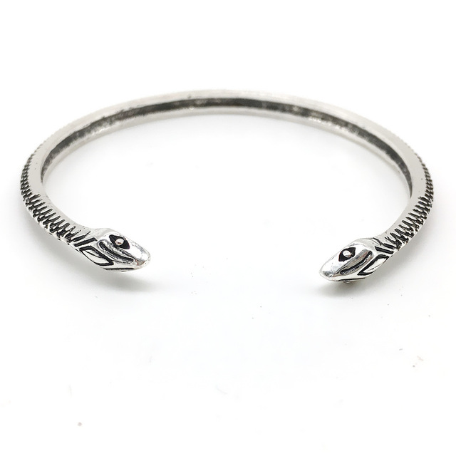 Vintage Retro Boho style snake bracelet women Bohemian bracelet Tribal bangle antique silver for Ethnic Gypsy girl jewelry