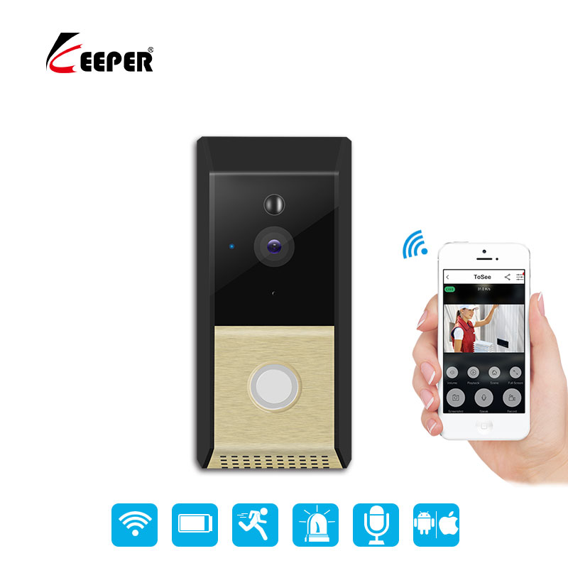 Wireless IP Doorbell With 720P Camera Video Phone WIFI Door bell Night Vision IR Motion Detection Alarm Security Doorphone new door intercom ip doorbell with 720p camera video phone night vision ir motion detection alarm for ios android wifi doorbell