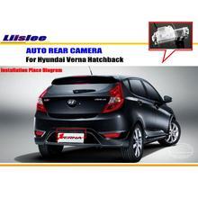 Car Rear View Camera / Back Up Reverse Parking Camera For Hyundai Fluidic Verna 2012~2014 License Plate Lamp HD CCD Night Vision
