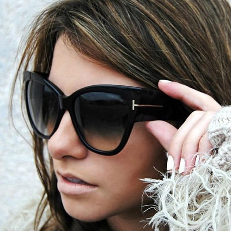 AFOFOO Fashion Cat Eye Sunglasses Luxury Brand Designer Vintage Oversize Women Sun Glasses UV400 Shades Sunglass Oculos De Sol 50pcs lot 25v10uf 4 7mm 10uf 25v 4 7 electrolytic capacitor new original free shipping