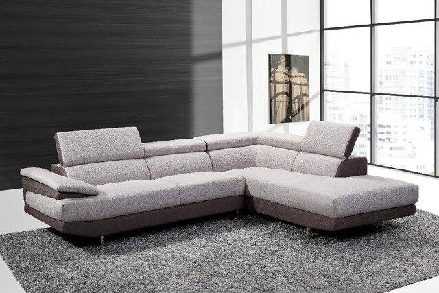 Modern living room furniture divano ad angolo in tessuto di alta ...
