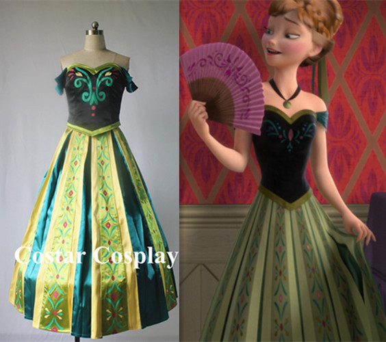 Gorgeous Anna Coronation Dress Custom-made Frozen Costume Princess Dress  Cosplay Costume