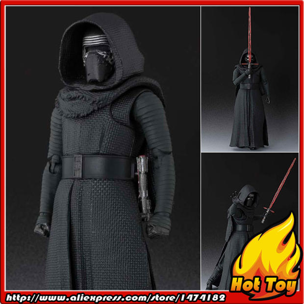 Original BANDAI Tamashii Nations S.H.Figuarts (SHF) Action Figure - Kylo Ren from Star Wars: The Force Awakens saintgi saintgi star wars the force awakens kylo ren action figure pvc 16cm model toys kids gifts collection free shipping