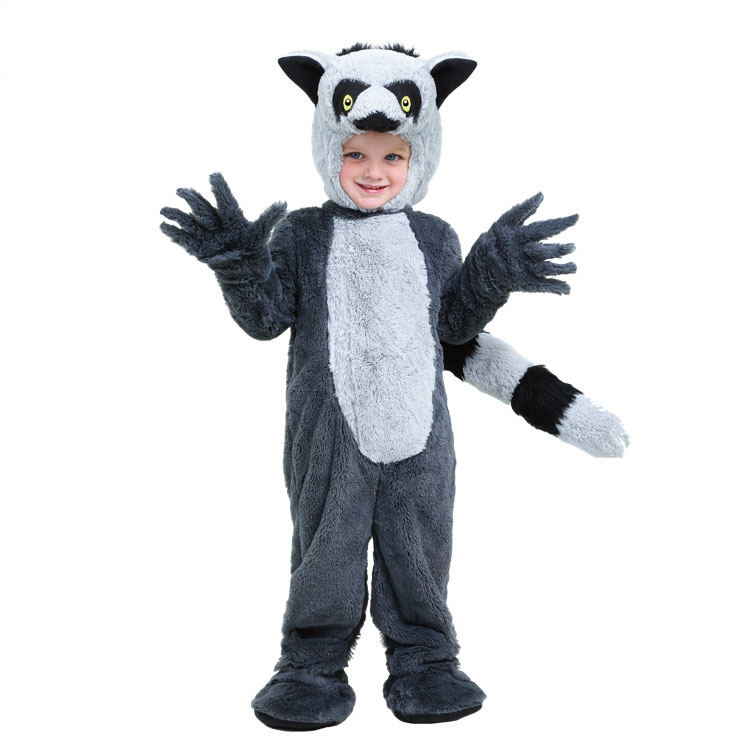 Bayi Children Adult Madagascar Island Animal Lemur Money Costume new Halloween cosplay costume top quality performance clothing