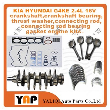 Crankshaft Connecting Rod/Crankshaft Bearing Connecting Rod Gasket Engine Kit FOR FITKIA Sportage HYUNDAI Sonata NF G4KE 2.4L genuine ud engine parts fd46 fd46t main crankshaft bearing con rod bearing connecting rod bushing
