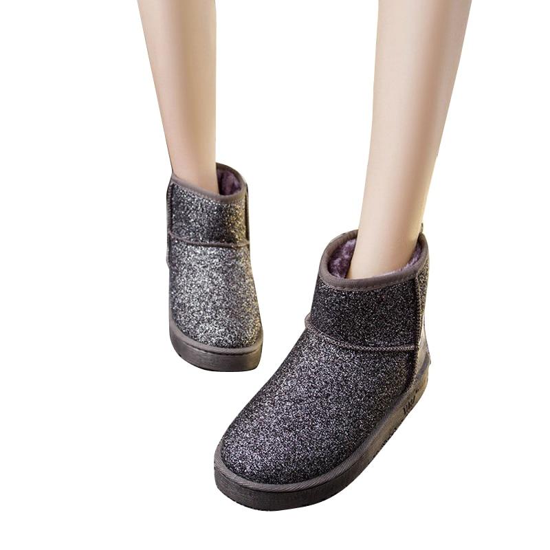 ФОТО 2015 New Arrival Autumn Winter Women Warm Snow Boots Fashion Women Shoes Flat Platform Heels Warm Winter Boots BT44