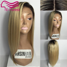 Virgin Two Tone Human Hair Full lace Wigs Straight Ombre Blonde Wig Brazilian Human Hair Full Lace Wigs For Sale
