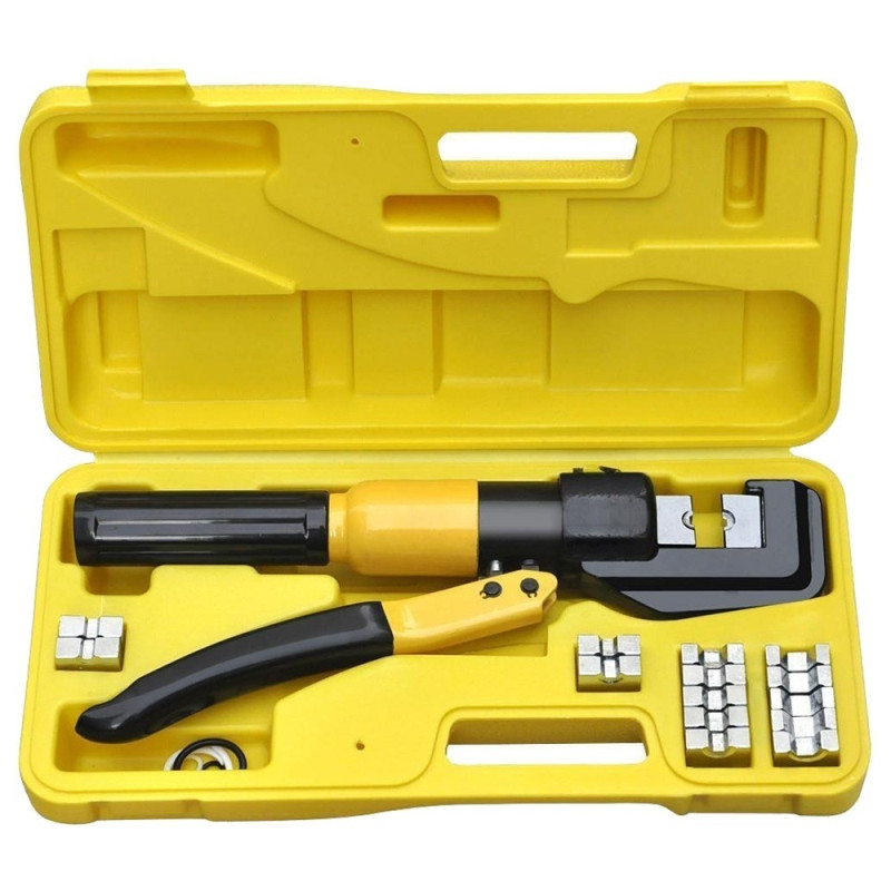 Image 2 - YQK 70 6T/8T/12T Hydraulic Crimper Tool Kit Tube Terminals Lugs Battery Wire Crimping Force Hydraulic Pliers-in Pliers from Tools