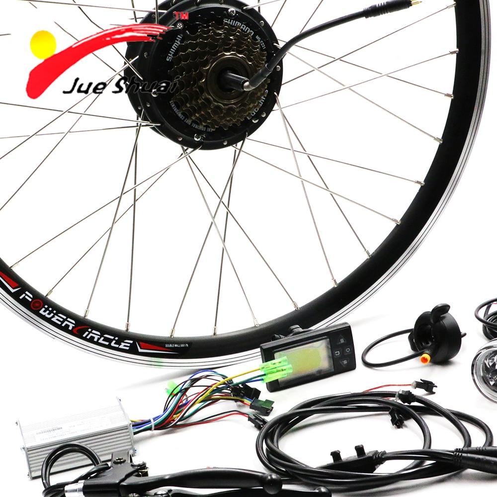 JS В 36 в 250 Вт двигатель Bicicleta Электрический велосипед Conversion Kit для 20 26 700C заднего колеса
