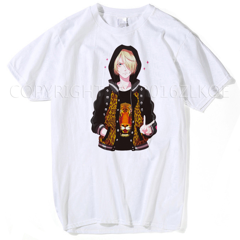 Yuri On Ice T Shirt New Arrival YURI!!! On ICE T Shirts Yuri Plisetsky Cosplay Anime Cos T-shirt Mens T Shirts Fashion Hip Hop