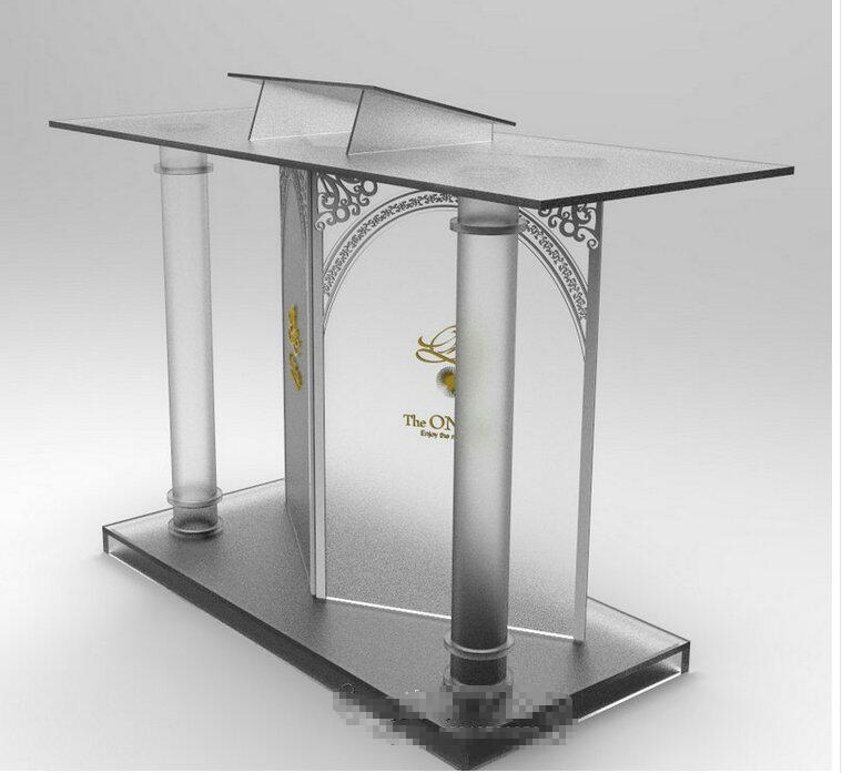 Free Shipping Supply Podium High Quality Factory Acrylic Podium Pulpit Platform Logo Customize