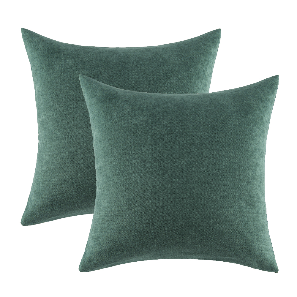 GIGIZAZA Green Cushions Covers 45x45 <font><b>50x50</b></font> for Sofa Bed Home Decor Throw Pillows Covers for Couch Bedroom Luxury <font><b>Pillowcases</b></font> image