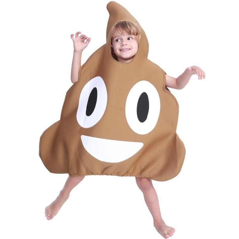 Cute Kids Boys Girls Costumes Poop Jumpsuit Halloween Cosplay Funny Dress halloween costumes clown dressed up acting cute nose red