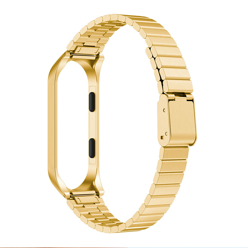 High Quality Replacement Watch Strap For Xiaomi Mi Band 3 Replacement Stainless Steel Wrist Band Strap Wristband For Mi Band 3